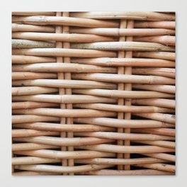 Rustic basket Canvas Print