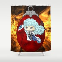 berserk Shower Curtains featuring Griffith by artwaste