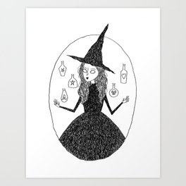 Potion Witch Art Print
