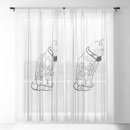 Kitten Jams Sheer Curtain