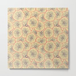 Abstract layered flowers pattern Metal Print