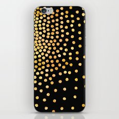 gold gradient dots iPhone & iPod Skin
