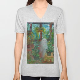 another haunted greenhouse  Unisex V-Neck