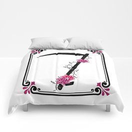 muerte rosa Comforters