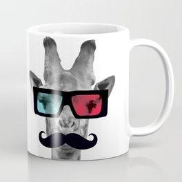 Giraffe 3D glasses Mustache Coffee Mug