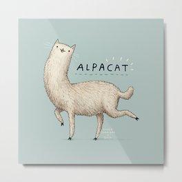 Alpacat Metal Print
