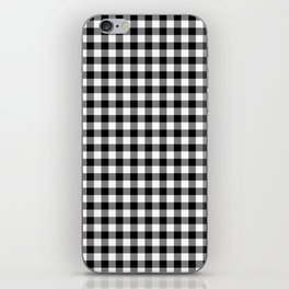 Classic Black and White Western Cowboy Buffalo Check iPhone Skin