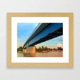 Bridge across the river Danube | architectural photography Framed Art Print
