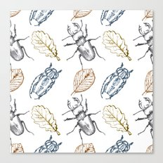 Bugs and leaves Canvas Print