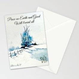 Peace On Earth Greeting Card Stationery Cards