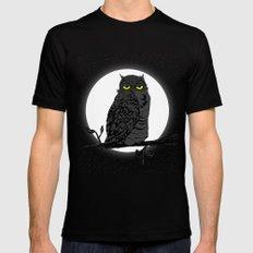 Night Owl V. 2 Black Mens Fitted Tee MEDIUM