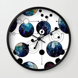 Galaxy Geometric Pattern 13 Wall Clock