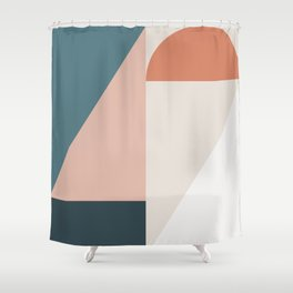 Cirque 01 Abstract Geometric Shower Curtain