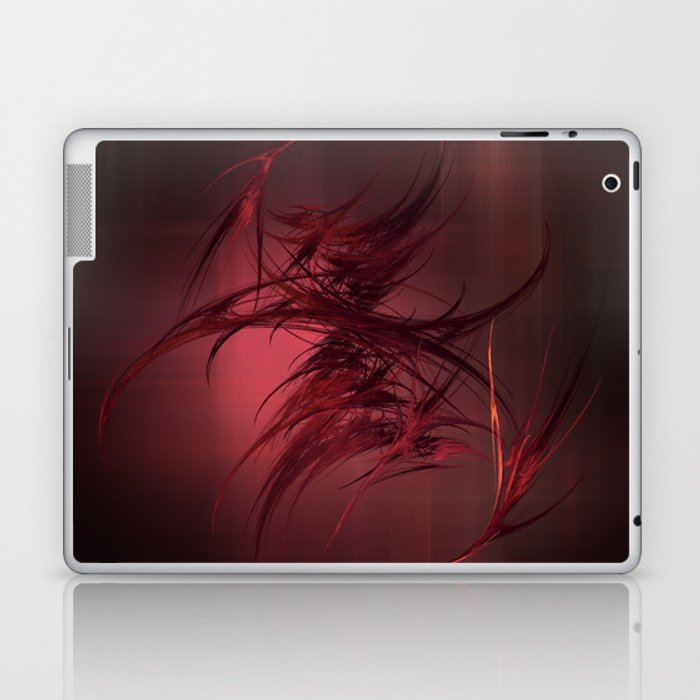 Red abstract Laptop & iPad Skin