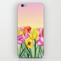 tulips iPhone & iPod Skins featuring Tulips by Julia Badeeva