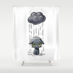 Pouring Shower Curtain