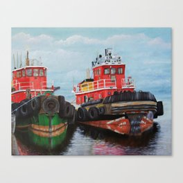Tugboats on Penobscot Bay Canvas Print