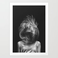 wind Art Prints featuring Wind by Illustratic