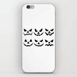 Scary Pumpkin Faces Halloween Day iPhone Skin