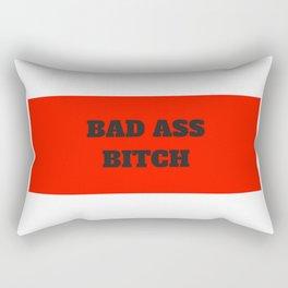 Bad Ass Bitch Rectangular Pillow