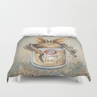 cookies Duvet Covers featuring Bat Cookies by Patrizia Ambrosini
