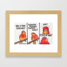 Bird no. 282. The Garden (Haiku) Framed Art Print