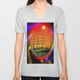Sailing romance 13 Unisex V-Neck