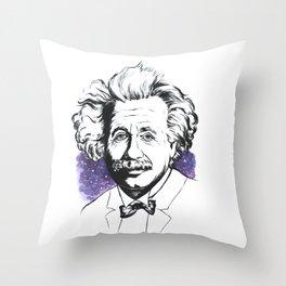 Albert Einstein Throw Pillow