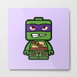 Chibi Donatello Ninja Turtle Metal Print