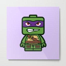 Chibi Donatello Ninja Turtle Metal Print
