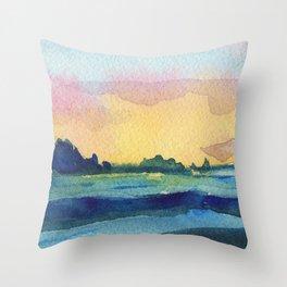 Sea Landscape. Throw Pillow