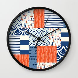 Beautiful Patch 9 (Nautical) Wall Clock