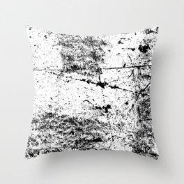 Black and White Modern Art Abstract Paint Splatter Throw Pillow