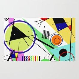Retro Crazy - Abstract, random, crazy, geometric, colourful artwork Rug
