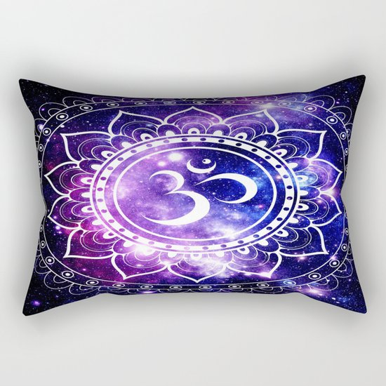 om mandala: purple blue space Rectangular Pillow