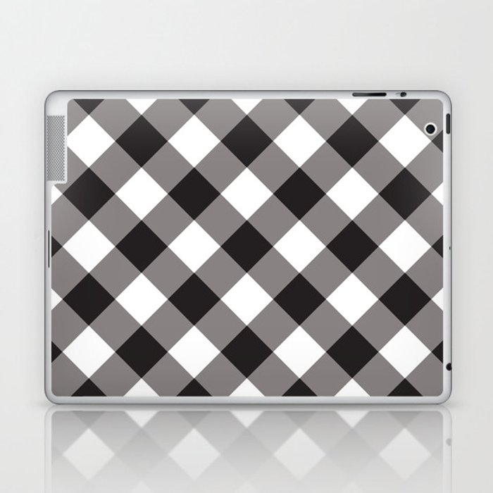 Gingham - Black Laptop & iPad Skin