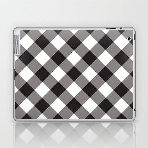 Gingham - Black Laptop & iPad Skin