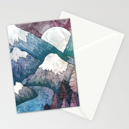 A cold river canyon Stationery Cards