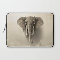 elephant Laptop Sleeves featuring Elephant by Rafapasta