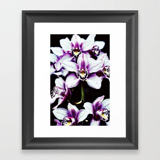 Orchiiiiiiiids. Framed Art Print