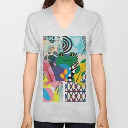 Frog Abstract Unisex V-Neck