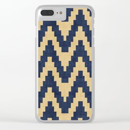 Twine in Blue and Gold Clear iPhone Case