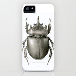 Ox Beetle/Strategus antaeus iPhone Case