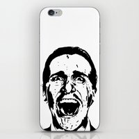 american psycho iPhone & iPod Skins featuring American Psycho by ginaxcuzzilla