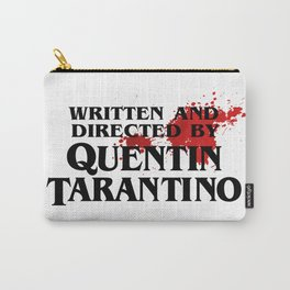 Bloodstained Written And Directed By Quentin Tarantino Artwork, Posters, Prints, Tshirts, Mugs, Bags Carry-All Pouch