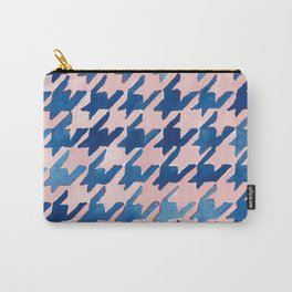 Pink & Blue Houndstooth Carry-All Pouch