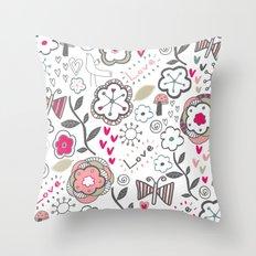 Fun Doodles  Throw Pillow