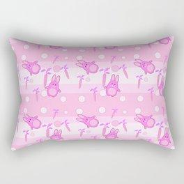 pink rabbit Rectangular Pillow
