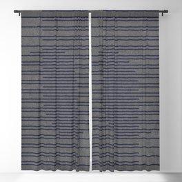 AWARENESS BLUE ON GREY Blackout Curtain