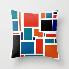 Modern Mondrian (white) Throw Pillow